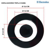 Kit espalhadores para fogões tripla chama electrolux 5 bocas 76 tx -