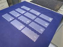 Kit Espátulas De Decoração Em Acrílico P/ Bolo 12 Unidades - Rofex Laser
