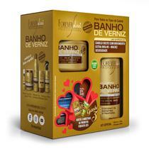 Kit Especial Banho de Verniz Forever Liss com Shampoo 300ml Máscara 250g -