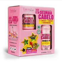 Kit especial desmaia cabelo com shampoo mascara forever liss -