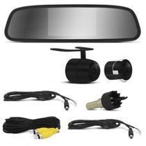 Kit Espelho Retrovisor Monitor Com Câmera De Ré Tela LCD 4.3 - Cinoy