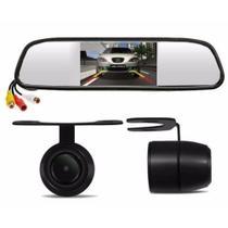 Kit Espelho Retrovisor Monitor Tela Lcd 4.3 + Câmera De Ré - Expresso