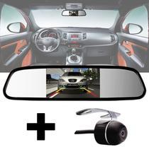 Kit Espelho Retrovisor Monitor Tela LCD 4.3 + Câmera Ré - E-Tech