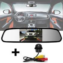 Kit Espelho Retrovisor Monitor Tela LCD 4.3 + Câmera Ré Tartaruga Embutir - E-Tech