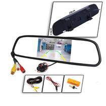 Kit Espelho Retrovisor Monitor Tela Lcd 4.3 Com Camera Re Tartaruga-kit117 Kit117 - Winnparts