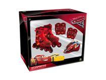 Kit Esportivo Patins Carros Disney Ajustável 29 ao 32 4088 - Dtc