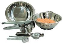 kit espremedores e escorredores de alimentos - YAZI