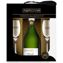 Kit Espumante Moscatel Panizzon 750ml + 2 Taças -