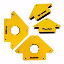 Kit Esquadro Magnetico 12kg / 35kg P/ Solda Titanium - 2 de cada -