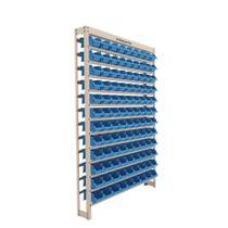 Kit Estante Gaveteiro Organizador 108/3 Bege Liso Azul Presto -