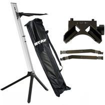 Kit Estante Stay Slim 1100/01 Prata + Base + Longarina para Notebook -