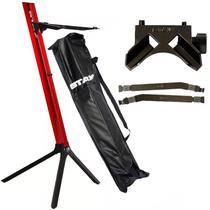 Kit Estante Stay Slim 1100/01 Vermelha Com Base e Longarina Para Notebook -
