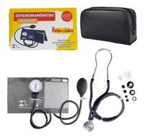 Kit Estetoscopio Duplo + Aparelho De Medir Pressão Esfigmomanometro - P.A.Med