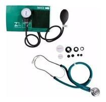 Kit Estetoscopio Duplo + Aparelho De Medir Pressão Esfigmomanometro - P. A. MED