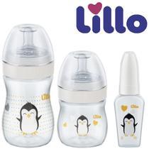 Kit Evolution do Bebê Antivazamento com 3 Mamadeiras 50ml, 150 ml, 240 ml - Lillo -