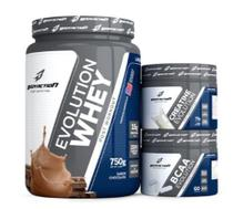 Kit Evolution (Whey + Creatina + Bcaa) - Chocolate - Body Action -