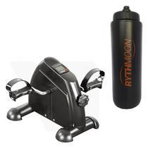 Kit Exercitador Mini Bike Com Monitor - Liveup + Squeeze Automático 1lt - Rythmoon