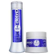 Kit Extend Color Matizador Roxo Violet Shampoo 300ml Máscara 250g - Haskell -