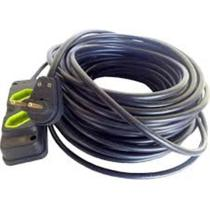 Kit Extensao 50m C/ Tomada Dupla Cabo Pp 2x1.0mm - RB