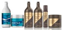 Kit Extrato de Mirtilo Shampoo 1 Litro + Máscara 450g + Kit Protect Care Power Nutri Completo Lowell -