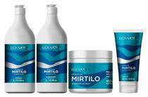 Kit Extrato de Mirtilo Shampoo + Condicionador 1 Litro + Leave-in 180ml + Máscara 450g - Lowell -