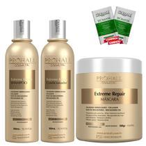 Kit Extreme Repair Shampoo 300ml + Condicionador 300ml + Máscara 500g - Prohall