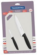 Kit Facas e Taboa para Carnes Legumes Preparação Tramontina -