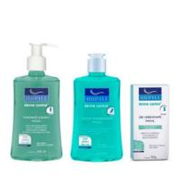 Kit Facial Nupill Derme Control Sabonete+Adstringente+Gel Hidratante -