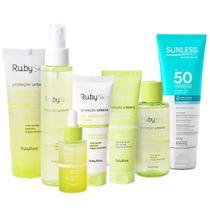 Kit Facial Ruby Skin Ruby Rose + Protetor Solar Sunless -