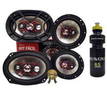 """Kit Fácil Bravox 6x9"""" e  6"""" 240W RMS Linha X + PRESENTE -"""