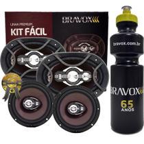 """Kit Fácil Bravox 6x9"""" e 6"""" 300W RMS Linha Premium + PRESENTE -"""