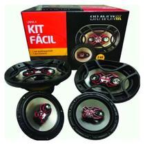 """Kit Facil Bravox Alto Falante 6x9 e 6"""" 480W Linha X - o kit - Pioneer"""