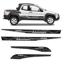 Kit Faixa Fiat Strada Adventure Locker 2008/ Adesivo Lateral - Sportinox