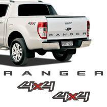 Kit Faixa Ford Ranger 2017/2018 4x4 Adesivo Grafite/Preto - Sportinox