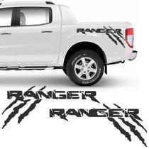 Kit Faixa Ford Ranger Garras 2013/2019 Adesivo Lateral Grafite - Sportinox