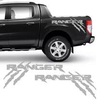 Kit Faixa Ford Ranger Garras 2013/2019 Adesivo Lateral Prata - Sportinox