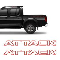 Kit Faixa Frontier Attack Modelo Original Adesivo Vermelho - Sportinox