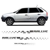 Kit Faixa Gol Rallye G4 Adesivo Lateral + Traseiro Preto - Prime