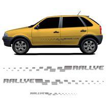 Kit Faixa Lateral Adesivo Traseiro Gol Rallye G4 Grafite - Prime