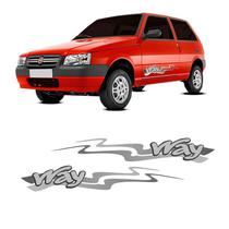 Kit Faixa Lateral Uno Way 2013/ Adesivo Modelo Original - SPORTINOX