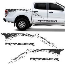 Kit Faixa Nova Ford Ranger 2013/2019 Adesivo Lateral Grafite - Sportinox