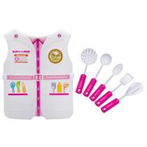 Kit Fantasia Infantil Criança Profissões Enfermeira e Chef de Cozinha - Wellmix