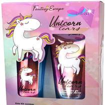 Kit Fantasy Escape Unicorn Tears Delikad Body Splash 200ml + Body Lotion 200ml - VIEW