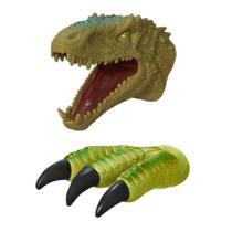 Kit Fantoche + Garra Tiranossauro Rex de Brinquedo Em Vinil - Adijomar Brinquedos