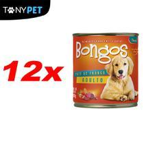 Kit Fardo Com 12 Bongos Enlatado Para Cães Sabor Frango 280g -