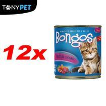 Kit Fardo Com 12 Bongos Enlatado Para Gatos Sabor Carne 280g -