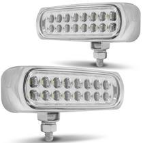 Kit Farol de Milha Auxiliar Universal 16 LEDs 12V Strobo Safety Car 9 Efeitos Autopoli -