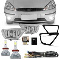 Kit Farol de Milha Focus 2004 a 2007 Auxiliar Neblina com Par Super LED Headlight H11 6000K 6400LM - Prime