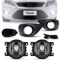 Kit Farol de Milha Ford Novo Focus 2009 a 2013 com Botão Modelo Universal - Shocklight