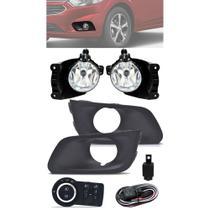 Kit Farol de Milha Neblina Chevrolet Onix e Novo Prisma LT e LTZ  2017 2018 2019 2020 Com Moldura- Interruptor Modelo Original - Suns / Zapos / Tiger